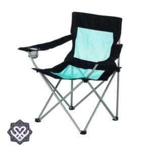 vouwstoel op festival camping