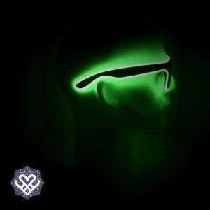 led bril groen zonnebril glazen