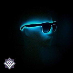 led bril blauw zonnebril glazen