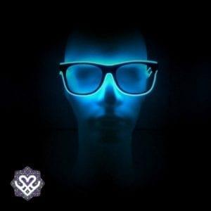 led bril blauw heldere glazen