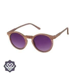 paarse houten zonnebril