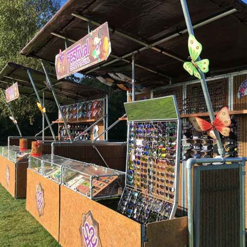 verkoopstands festival