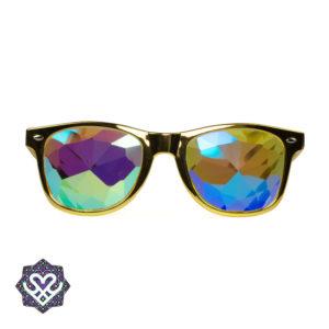 spacebril goud kaleidoscoop glazen