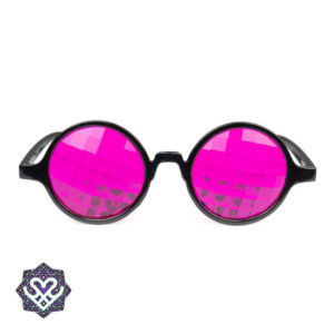 spacebril roze kaleidoscoop glazen