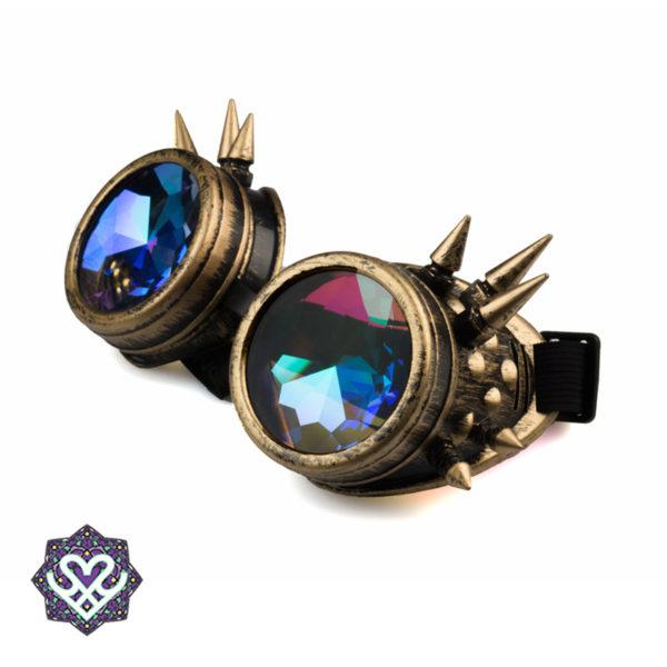 bronzen caleidoscoop goggle