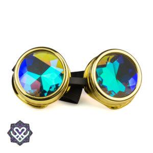 goud steampunk goggle caleidoscoop