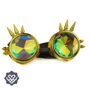 gouden goggle caleidoscoop