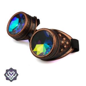 steampunk brons kaleidoscope goggle