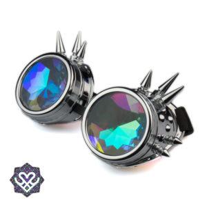 zilveren goggle caleidoscoop spikes